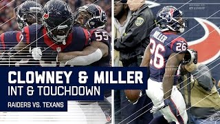 Jadeveon Clowney's INT Sets Up Lamar Miller's TD! | Raiders vs. Texans | NFL Wild Card Highlights