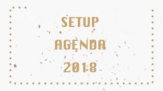 SETUP AGENDA CLAUDIAFXOXO DIY 2018