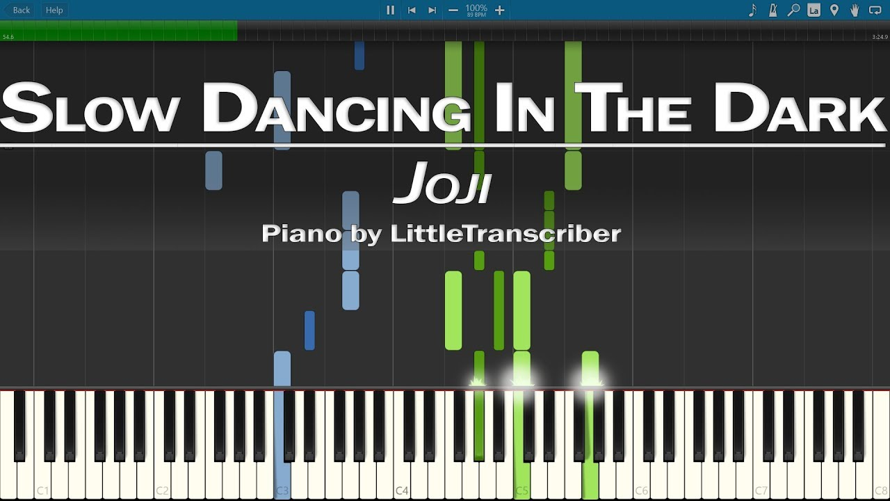 Joji Slow Dancing In The Dark Piano Cover Synthesia Tutorial By