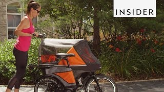 This Bike Turns into a Stroller