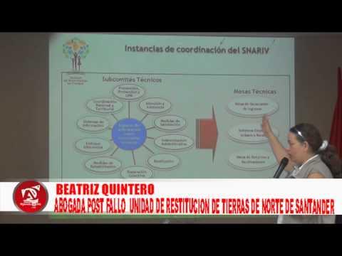 BEATRIZ QUINTERO ABOGADA ETAPA POST  FALLO   DE RESTITUCION DE TIERRAS DE NORTE DE SANTANDER 1