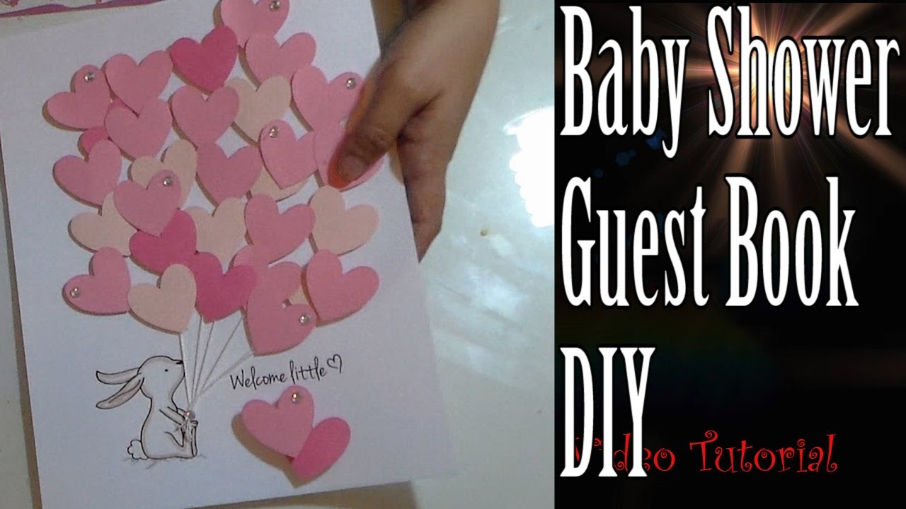 Craft DIY :Baby Shower Guest Book   YouTube