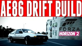 Forza Horizon 2 Drift Build : Toyota Trueno GT Apex AE86 Drift Build (Initial D Paint)