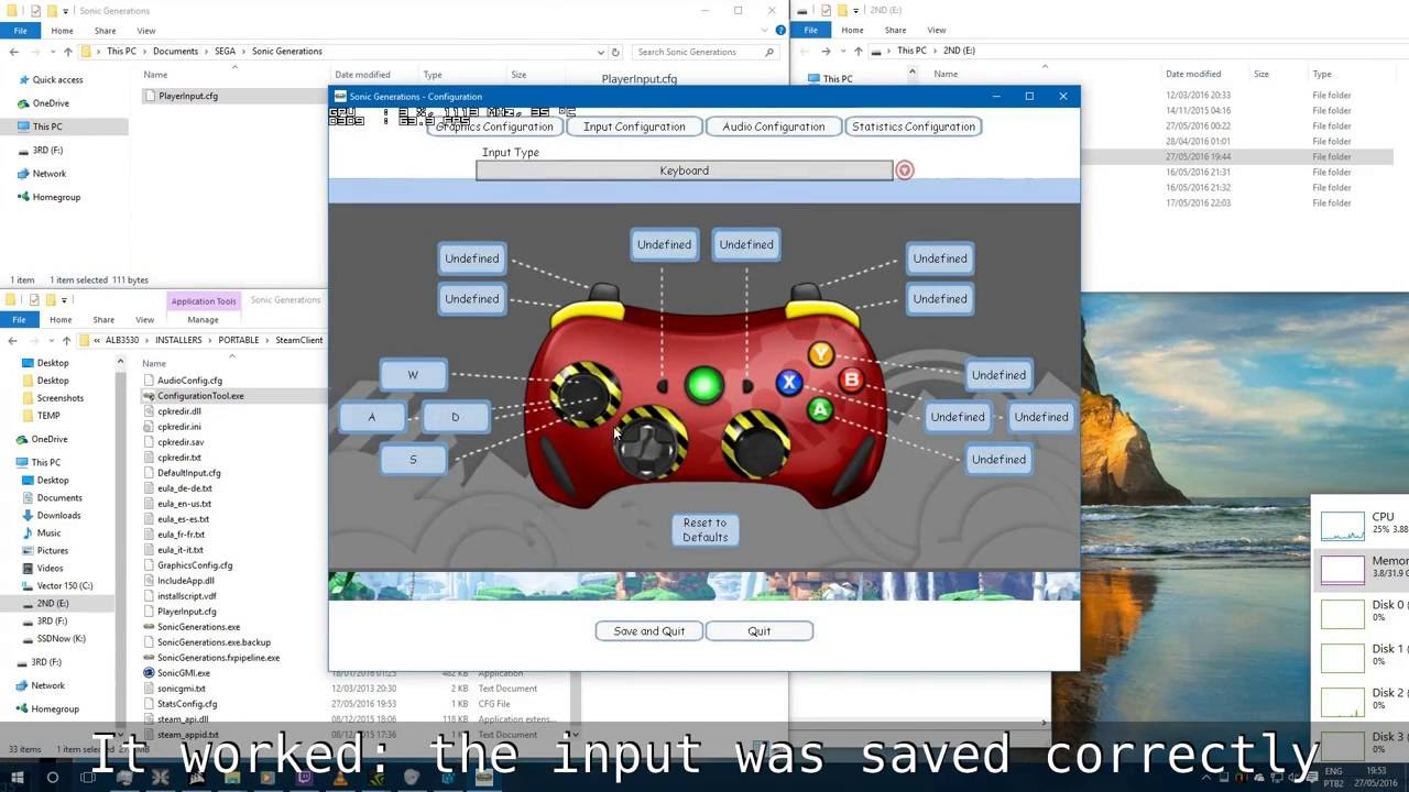 Fix for sonic generations (pc): input configuration can't be saved.