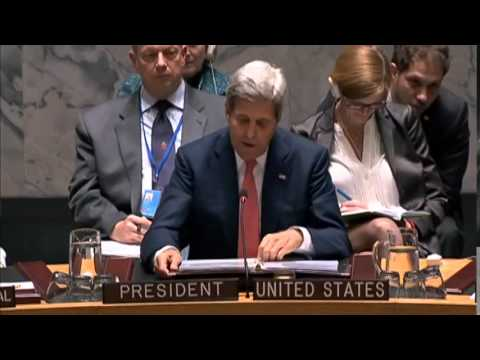 Secretary Kerry Delivers Remarks at a United Nations Security Council on Iraq
