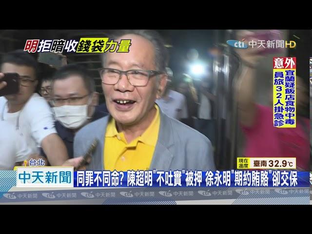 20200805中天新聞 「黨主席」特權? 徐永明交保免境管掀戰