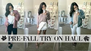 FALL  BASICS 2018 CLOTHING TRY ON HAUL | TRANSITION INTO FALL OUTFIT IDEAS | XoJuliana