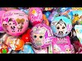 Opening LOL Sparkle Series, Surprise Eggs Stickers Lip Gloss Party Favors And Surprises