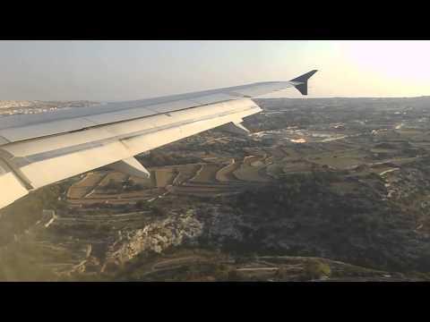 Landing - Luqa Airport Malta (AirSerbia)