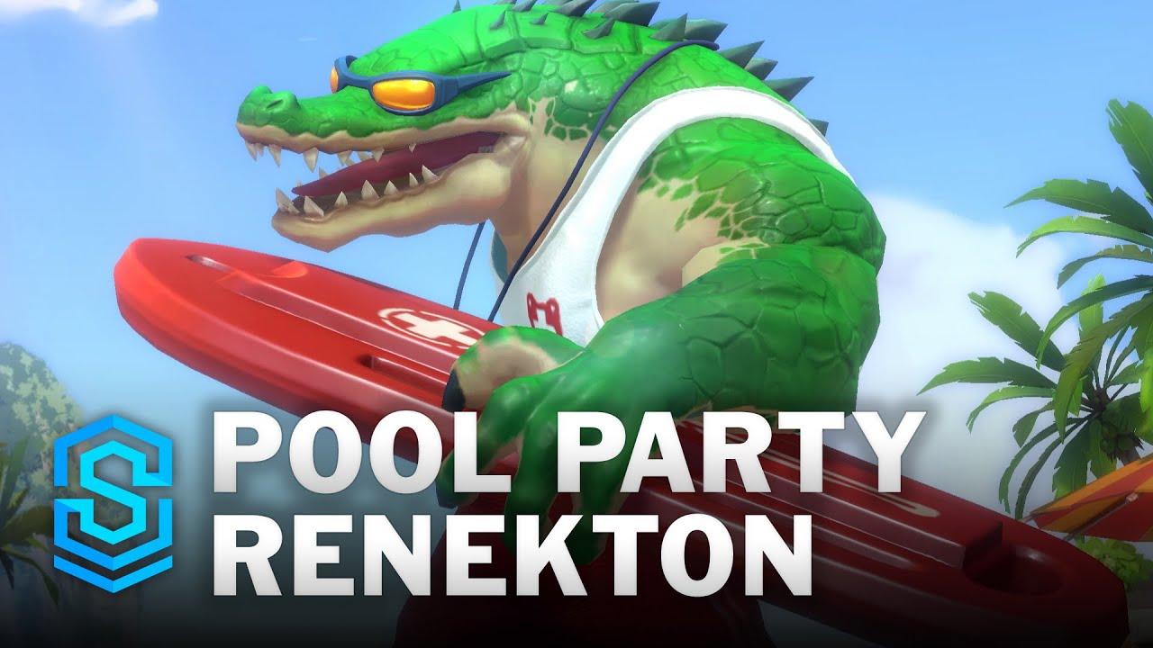 Pool Party Renekton Wild Rift Skin Spotlight