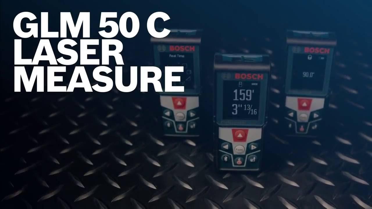 Bosch Power Tools Laser Measure Glm 50 C Youtube Meteran Digital Professional