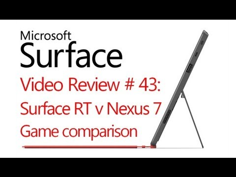 Microsoft Surface RT Review # 43: Surface RT v Nexus 7 - App/Game  Comparison (Windows 8)