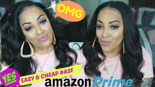 AMAZON PRIME EASY #ASF & CHEAP AS F**K LACE FRONTAL WIG FROM MIDDLE TO SIDE PART IN 2 MIN