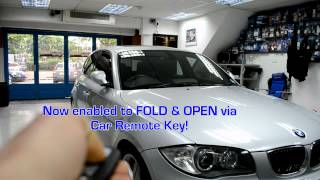 BMW 1 Series folding mirrors via REMOTE E87