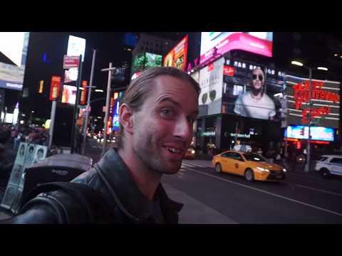 Walking Along Broadway in Manhattan New York