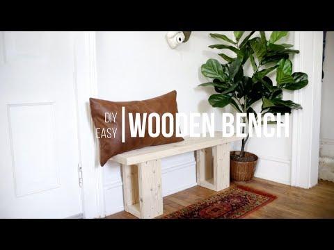 DIY Simple Wooden Bench