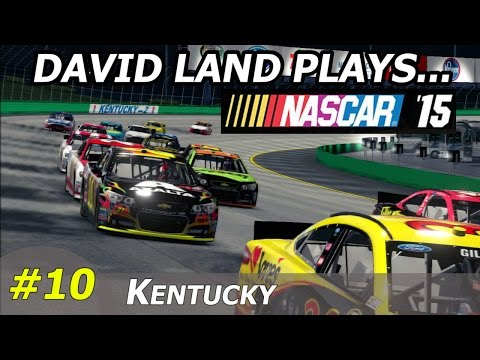 David Land Plays NASCAR '15 (R10S01- Kentucky) HD 60FPS PS3 Gameplay