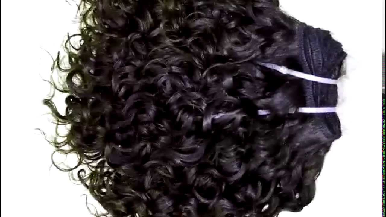 Afro Kinky Curly Machine Weft Weave Human Hair Extension Wholesale