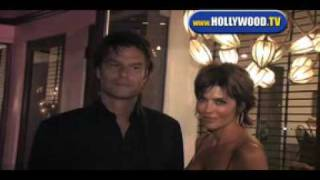 Harry Hamlin and Lisa Rinna At Villa.