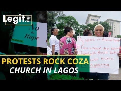 Busola Dakolo: Nigerians storm Biodun Fatoyinbo's church in
