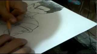 How to draw Mystic Gohan Requested By DBZLEGEND10- ミスティック飯を描画する方法