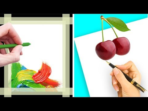 12 DRAWING AND PAINTING TRICKS