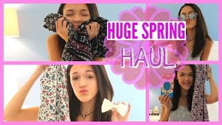 HUGE SPRING/SUMMER CLOTHING HAUL 2015 || Forever 21, Target, Abercrombie, and more! ||