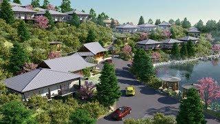 Thăm quan biệt thự mẫu dự án hasu village tại hoà bình LH: 0974769159