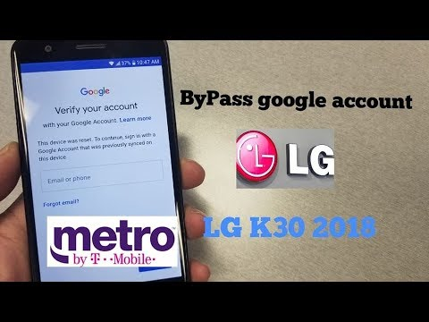 LG K30 2018 How ByPass Gmail\Google Account FRP For Metro By T-mobile
