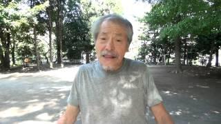 新井薬師の公園でうたう 松井天寿の蘇る昭和歌謡♪ http://tenjumatsui.b...