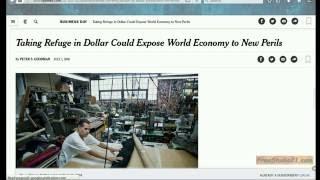 Чтение статьи об экономике - taking refuge in dollar -1