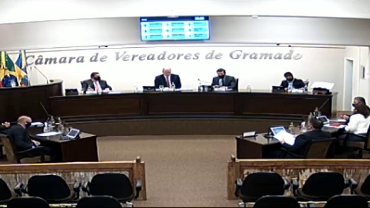 15ª Sessão Ordinária da Câmara de Vereadores de Gramado, realizada na segunda-feira,17 de maio de 20