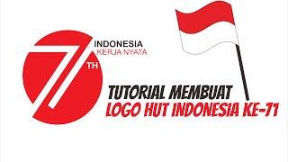Cara Membuat Logo Resmi HUT Republik Indonesia ke 71