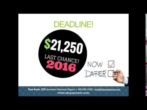 Claim Your EHR Incentive Payout Webinar