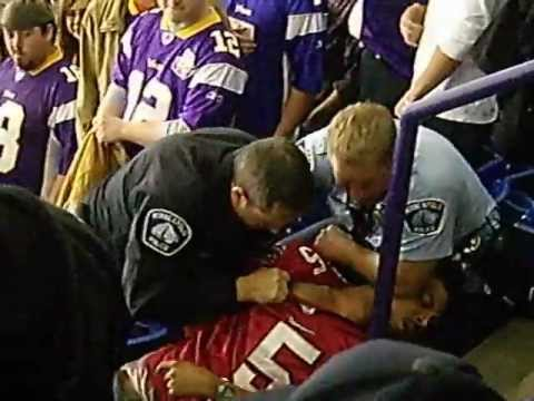 unruly fan at vikings game i witnessed my second fight in the