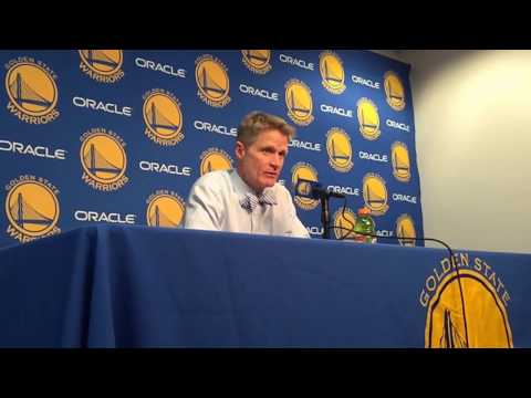 "Kerr on NBA coaches wearing bow ties: ""honoring Michael Goldberg…head of the Coaches' Association"""