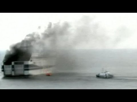 Rescue operation: 500 on board burning ferry off Greece