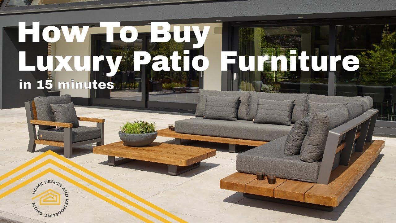 how to buy patio furniture with belamo design