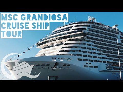 MSC Grandiosa Cruise Ship Tour - YouTube