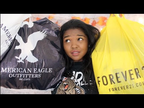 A REALLY BIG TRY-ON HAUL (FOREVER 21, PACSUN, BRANDY MELVILLE, AMERICAN EAGLE) │ California Crystal