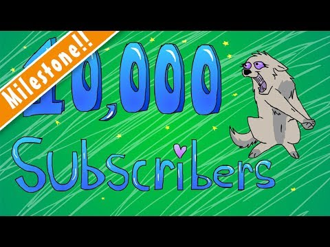 10,000-subscribers!!!-❤-(lineart-animation)
