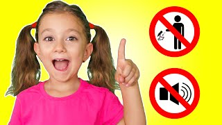 Like Norina and Simple Rules Children for Kids Pretend Play How to Behave
