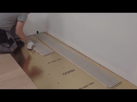 How To Install Flooring Underlay Tutorial By Pergo Youtube