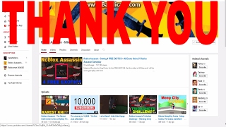 Thank you Roblox Assassins Mike and all of you.
