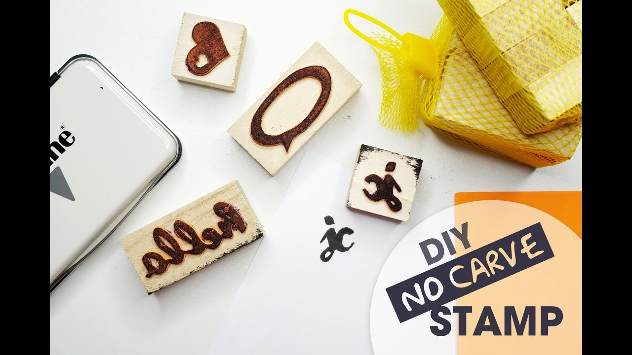 Diy stamp no carving required youtube
