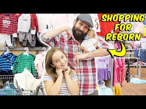 Shopping with Newborn Reborn Baby Doll at Walmart