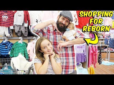 Shopping with Newborn Reborn Baby Doll at Walmart Reborn Boy Oliver