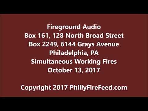 10-13-17, Simultaneous Fires on Broad St & Grays Ave, Philadelphia, PA