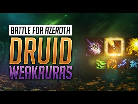Druid WeakAuras BFA Patch 8.1 + Guide - Balance, Feral, Guardian and Restoration