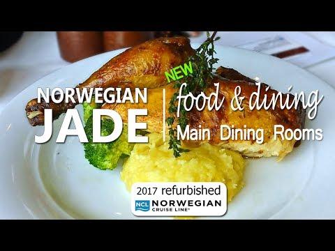 Dinner Food on Norwegian Jade after 2017 refurbishment